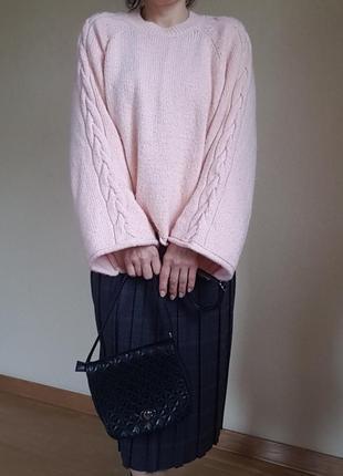 Актуальный теплый свитер джемпер пуловер оверсайз