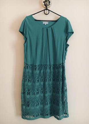 Батал большой размер шикарное стильное нарядное натуральное платье платьице плаття