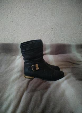 Сапожки, сапоги черные, ботинки демисезонные