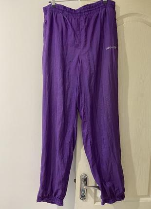 Спортивные штаны фиолетовые сиреневые винтаж унисекс