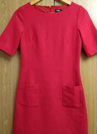Шерстяное малиновое платье oasis ,p.xs-s
