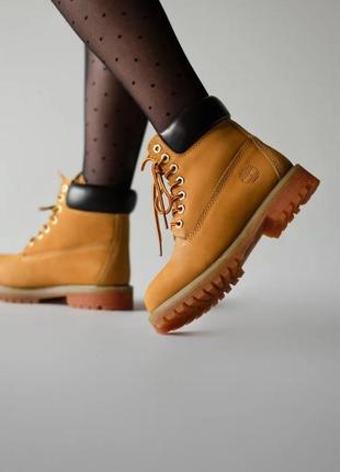 Зимние женские, мужские ботинки timberland classic коричневые (тимберленд классик)