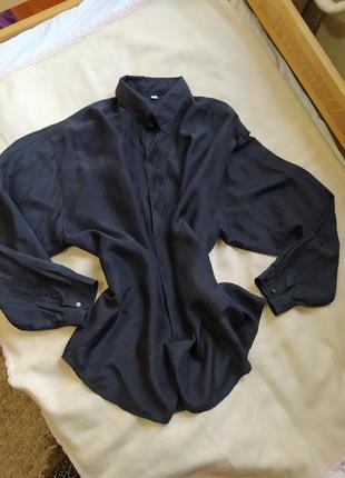 Рубашка блуза шелк