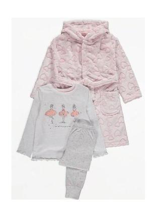 Комплект халат и пижама george