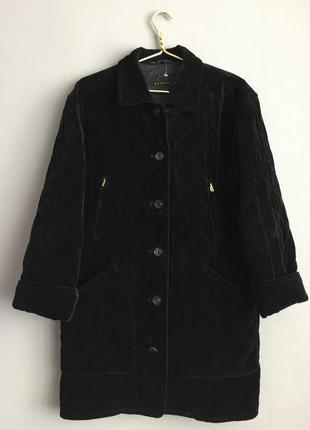 Bogner винтажное брендовое люксовое стеганное велюровое теплое пальто.