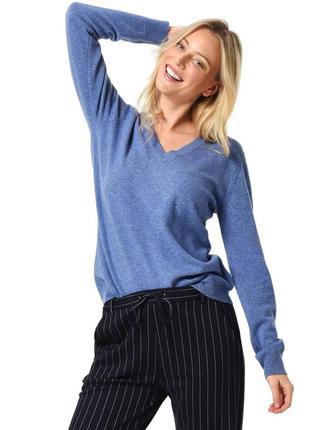 Мягкий джемпер пуловер кашемир королевский синий