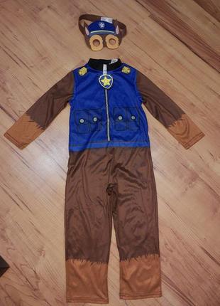 Карнавальный костюм детский щенячий патруль гонщик
