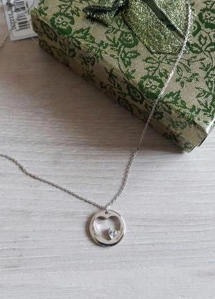 """Знижка: стильне кольє """"серце"""", срібло 925"""