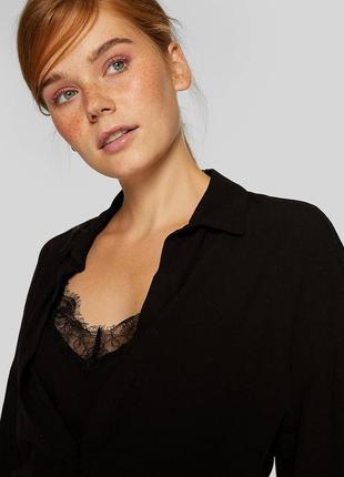 Стильна комбінована блуза з топом