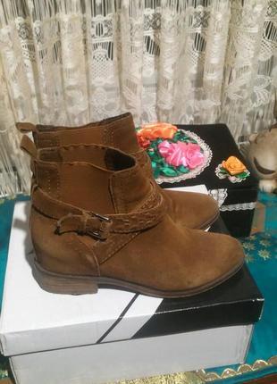 Замшевые ботинки. весна-осень.