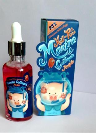 Сыворотка с морским коллагеном elizavecca witch piggy hell-pore marine collagen ample