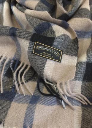 James pringle  тёплый длинный шарф из натуральной шерсти