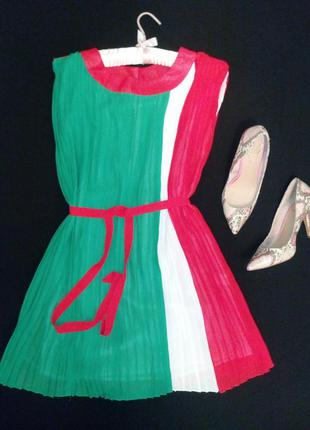 До 10.06. свободное плессированое платье с пояском р.46-50