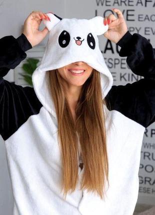 Пижама-комбинезон кигуруми панда- детские взрослые размеры - кенгуруми - оригинал!