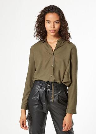 Блуза рубашка цвета хаки