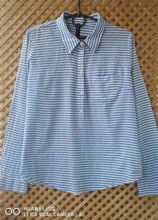 Легкая хлопковая рубашечка в полоску