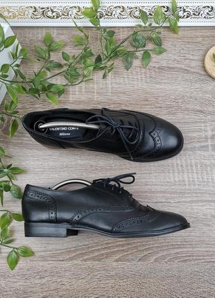 🌿38🌿европа🇪🇺 valentino conte malano. италия. кожа. классные фирменные туфли, оксфорды