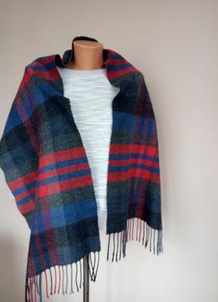 Стильный теплый шарфик клетчатый италия теплий шарф італія