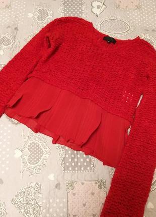 Укороченный свитер gigli италия