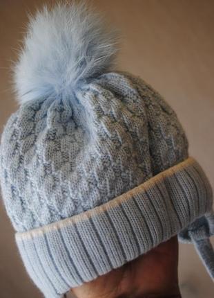 Теплая шапочка с подкладкой
