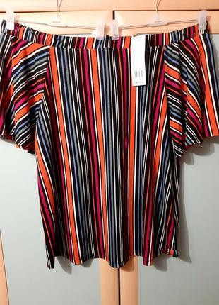 Обалденная блузка трикотажная с открытыми плечиками