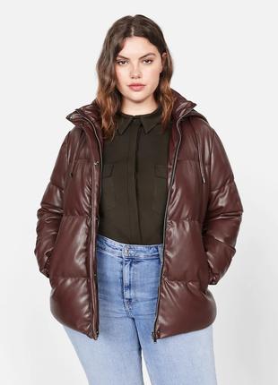 Шикарнейшая кожаная курточка  mango  52-54 осень/зима