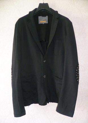 Мужской пиджак imperial, большой размер, пиджак с декором, піджак чоловічий 4xl-5xl
