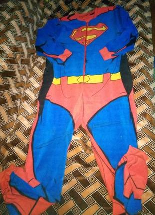 Флисовая пижама кигуруми супермен
