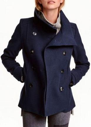 Брендове пальто жіноче h&m xxs-xs [швеція] (полупальто женское)
