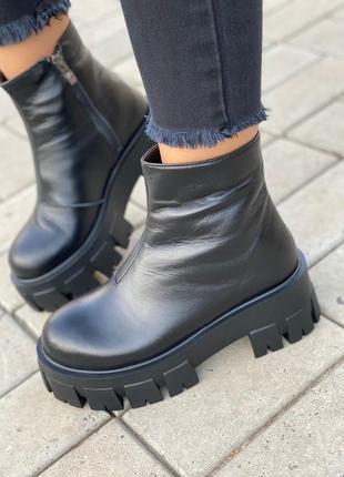 Ботинки натуральная кожа зима полушерсть
