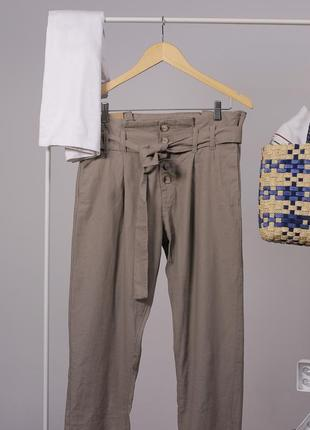 Класні лляні коричневі брюки chicoree