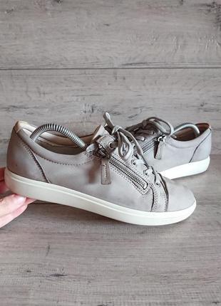 Туфли мокасины слипоны экко ecco 40р 26 см кожа