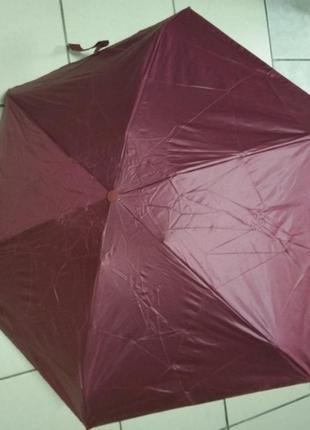 Мини зонт в капсуле бордо