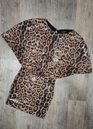 Леопардовое вечернее платье piena