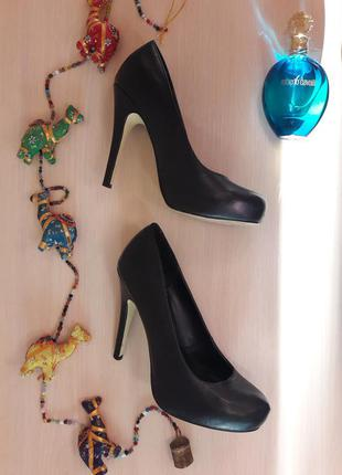 Туфли - лодочки, на шпильке, на высоком каблуке, р37,5-38