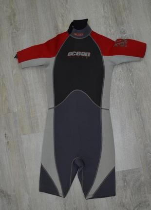Гидрокостюм детский ocean storm короткий размер xl гідрокостюм дитячий сёрфинг кайтсерфинг