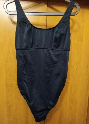 Стильный шикарный черный слитный сдельный купальник
