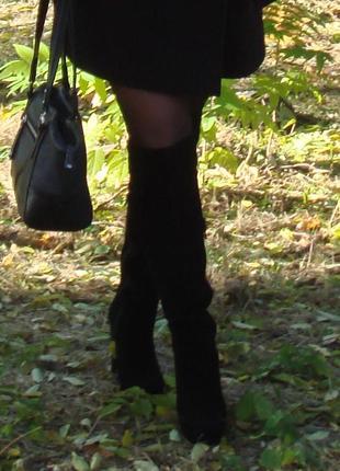 Сапожки - ботфорты braska, натуральная кожа (замша) в идеальном состоянии.