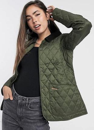 💥1+1=3 стильная женская стеганная куртка демисезон хаки montego, размер 52