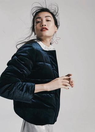 Бархатная велюровая куртка