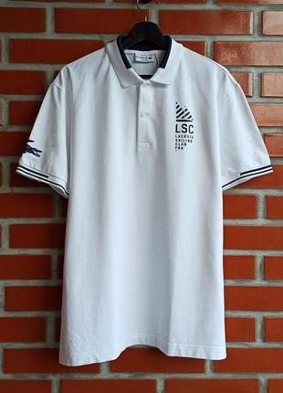 Lacoste мужская белая футболка поло размер xxl
