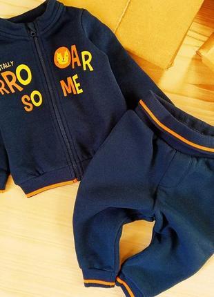 Набор, спортивный костюм, комплект на мальчика 3-6мес, lupilu