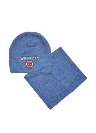 Комплект шапка шарф-снуд демисезонный