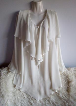 Нарядная удлинённая блуза с воланами, essence, р. 20/4xl