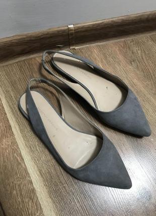 Замшевые туфли балетки лодочки, босоножки