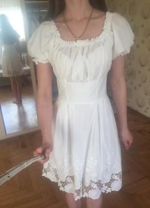 Платье хлопок, кружевное phardi,plilipp plein,a.m.n.,sogo,amnezia,spredway,raw