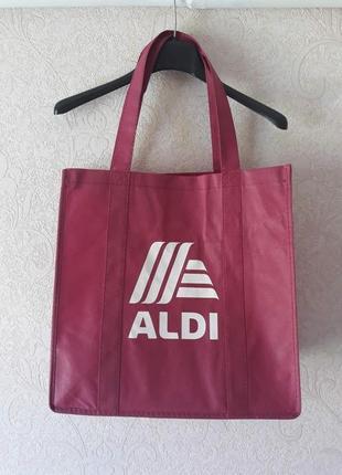Сумка для покупок, женская сумка, сумка шоппер, спанбонд, эко сумка aldi