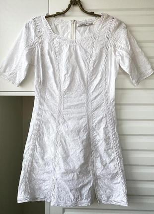 100% хлопок белое летнее платье в этно стиле в азиатско стиле