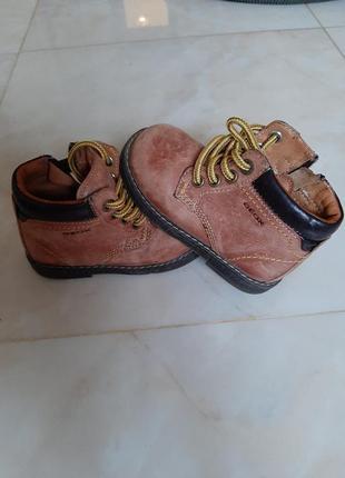 Geox, кожаные ботинки на ребёнка, 22размер