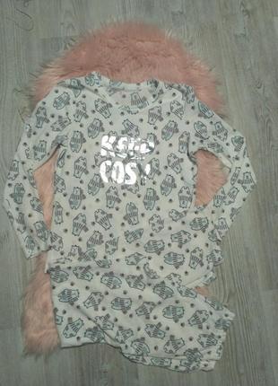 Теплая уютная пижама с мишками